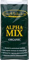 Alpha Mix Organic Soil - A sensational development in professional soil formulation.  Alpha Mix is formulated by a noted European agronomist and blended from carefully chosen organic ingredients.