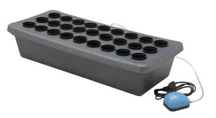 Cutting Board Propagator - A very useful small propagator, producing up to 27 cuttings or seedlings of good quality to be grown on in soil or in hydroponic systems.